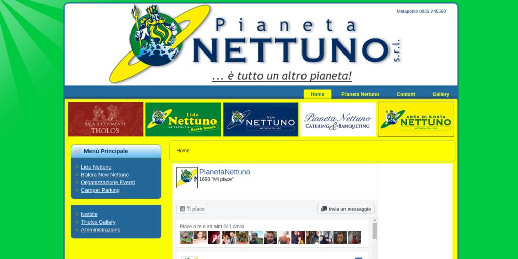 Sito web de Pianeta Nettuno
